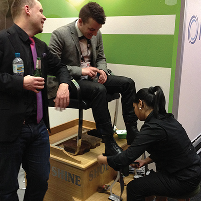 Shoeshine At Event